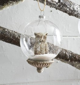 Glass Snow Globe Ornament
