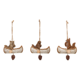 Animal in Canoe Ornament