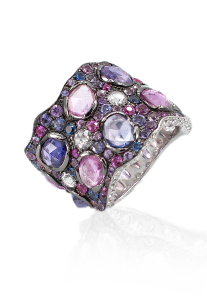 Purple & Pink Sapphire Ring