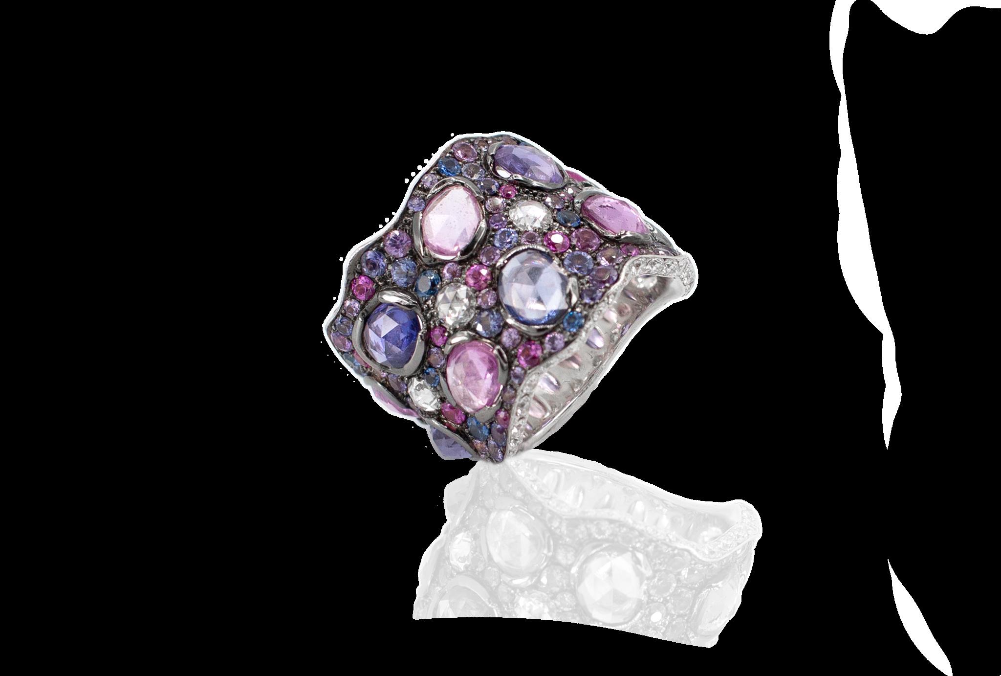 Purple & Pink Sapphire Ring-1