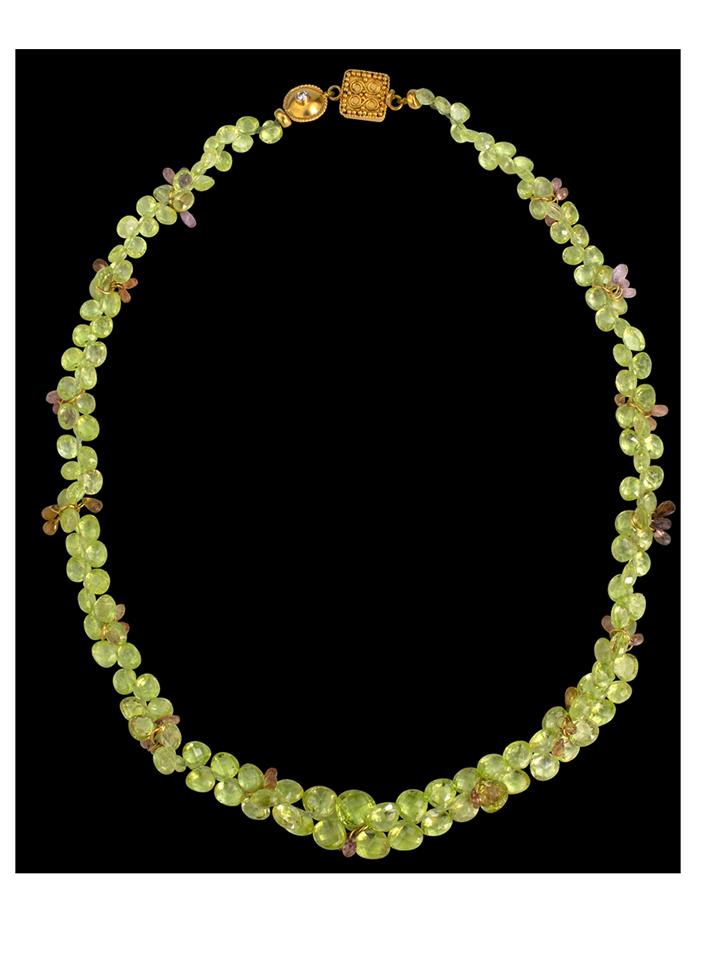 "Chrysoberyl & Sapphire Necklace - 16""-1"