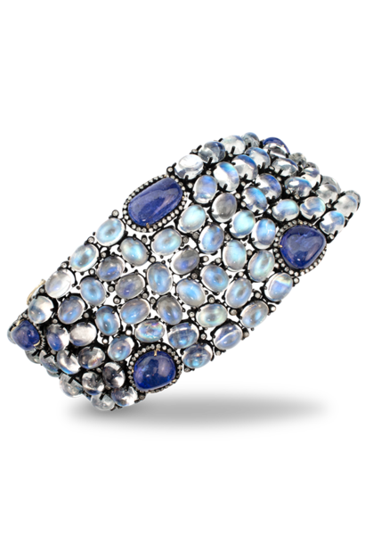 Moonstone and Tanzanite Bracelet Sterling Silver