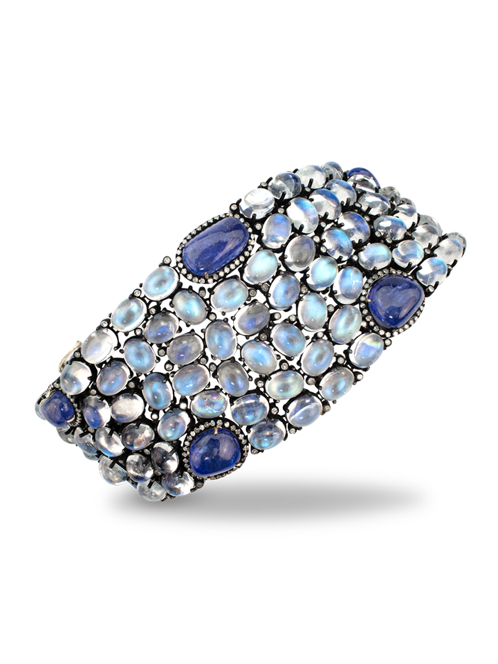 Moonstone and Tanzanite Bracelet Sterling Silver-1