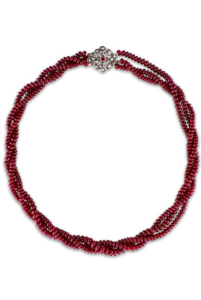 "Longidor Ruby Necklace - 16"""