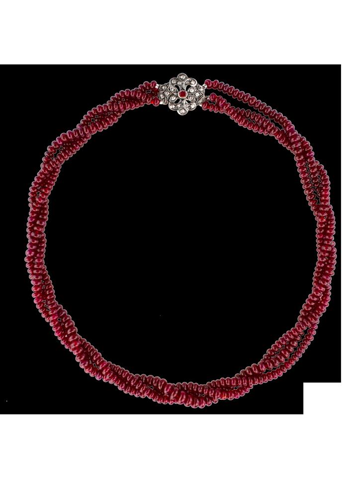 "Longidor Ruby Necklace - 16""-1"