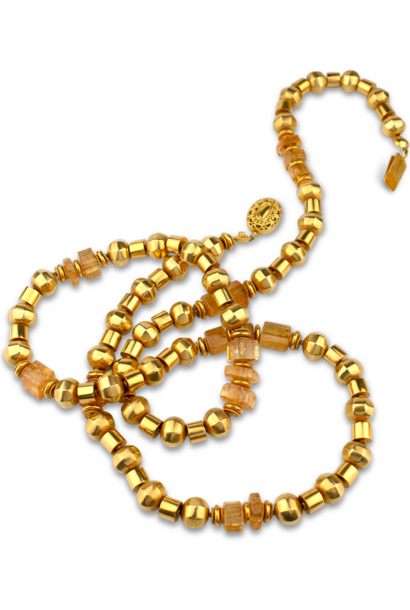 Gold and Imperial Topaz Necklace - 36""