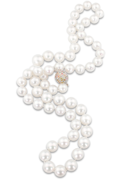 White South Sea Pearl Necklace - 32""