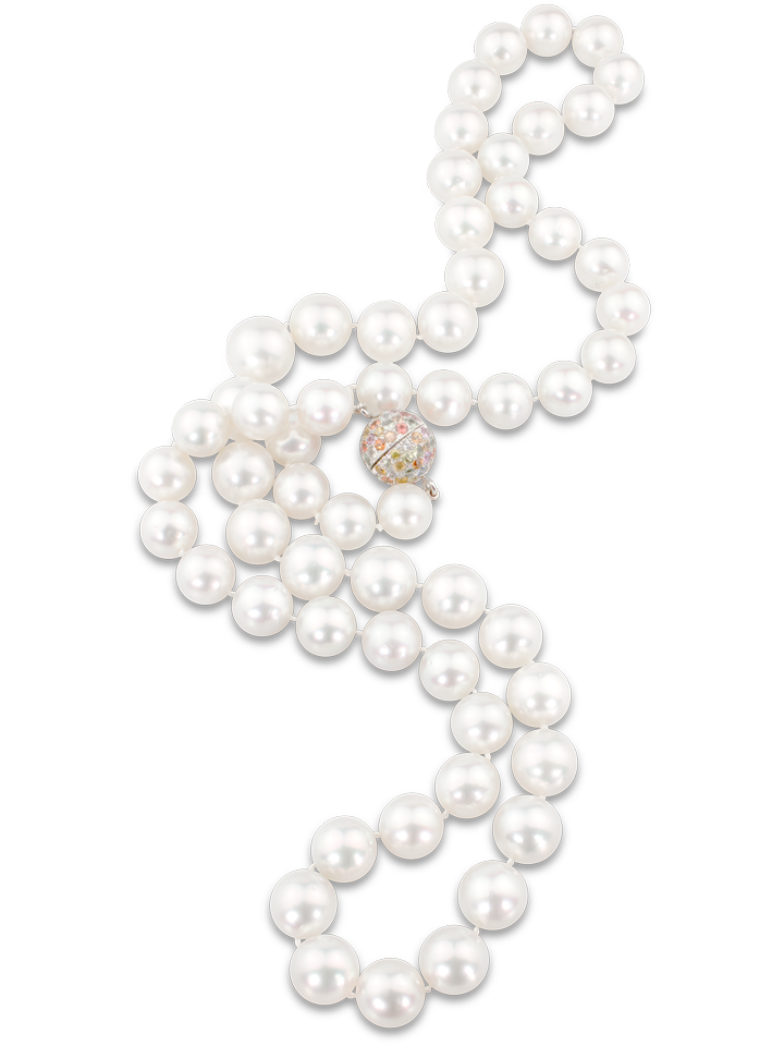 "White South Sea Pearl Necklace - 32""-1"