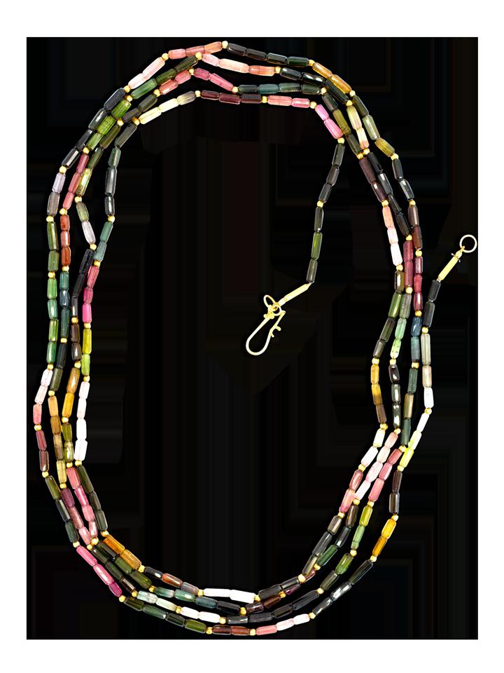 Multi-Colored Tourmaline Necklace-1