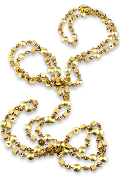 18K & 22K Gold Necklace - 58""