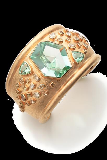 Mint Tourmaline Cuff Bracelet