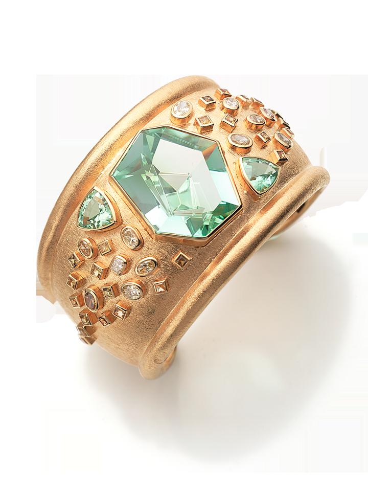 Mint Tourmaline Cuff Bracelet-1