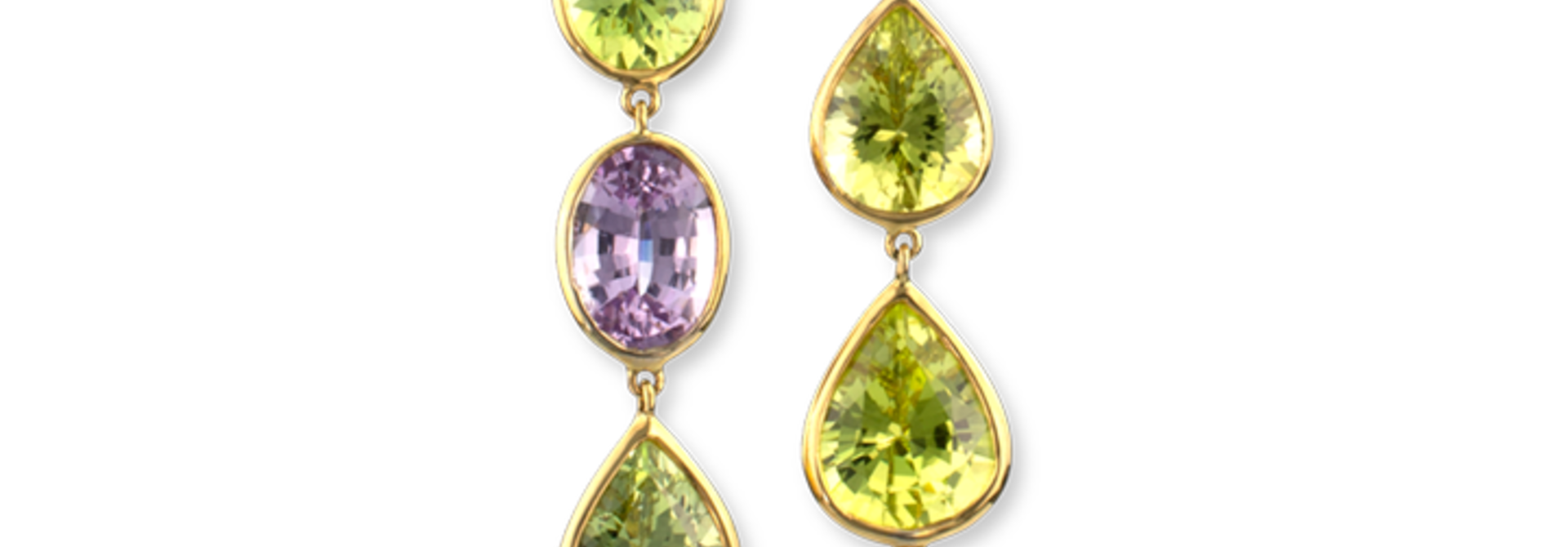 Spinel & Chrysoberyl Earrings