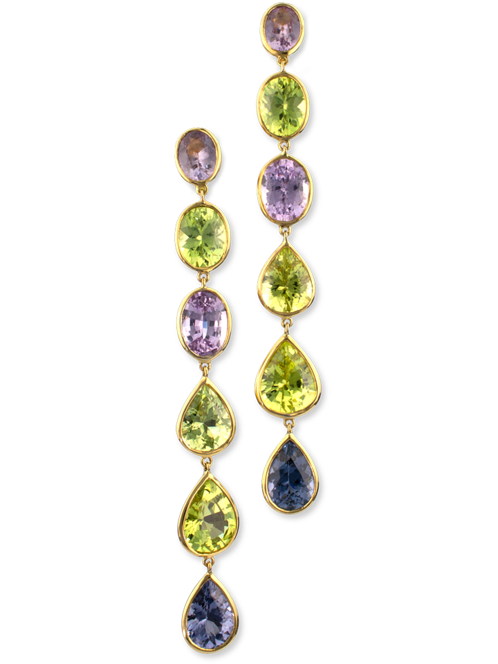 Spinel & Chrysoberyl Earrings-1