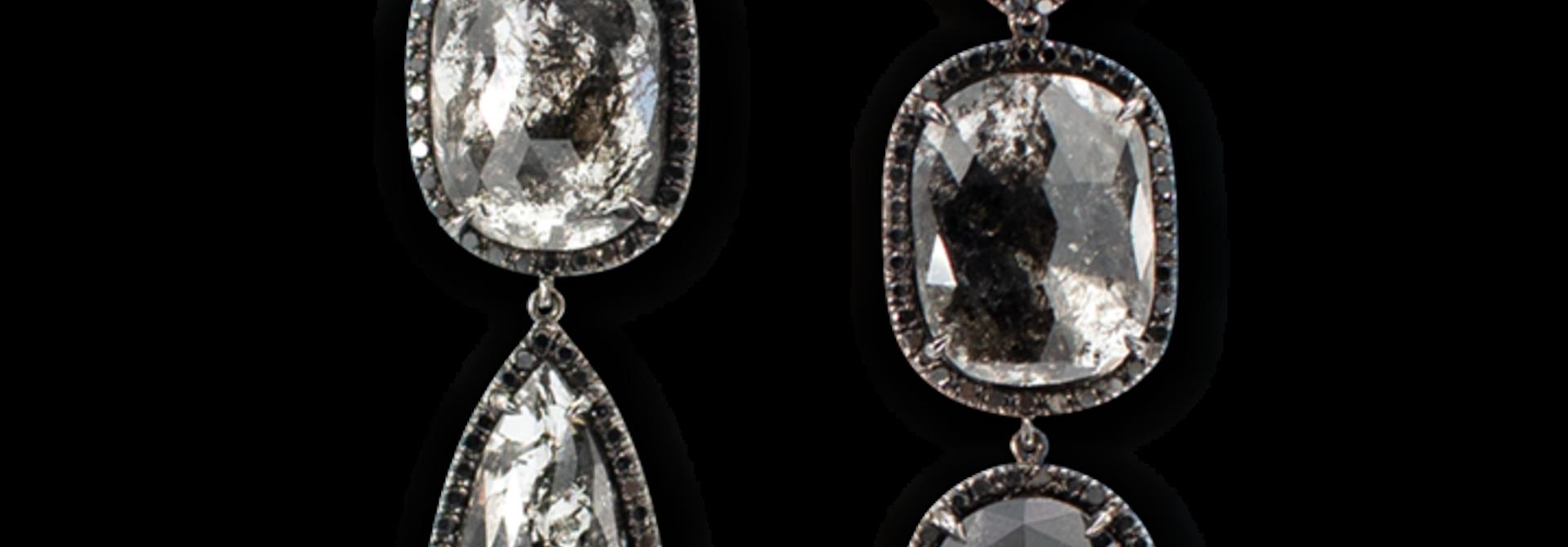 Black Diamond Slices & Black Diamond Earrings
