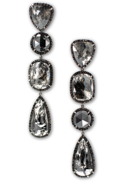 Black Diamond Slices & Black Diamond Earrings