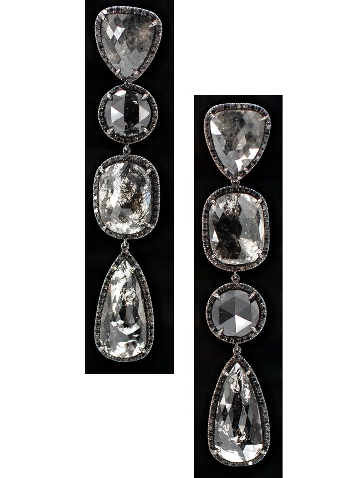 Black Diamond Slices & Black Diamond Earrings-1