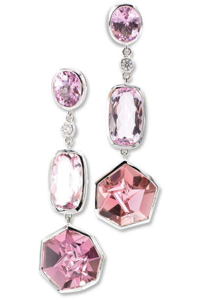 Pink Spinel, Morganite & Pink Tourmaline Earrings