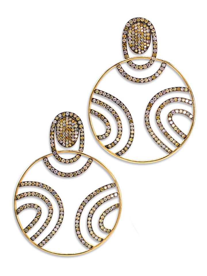 Diamond Swirl Earrings-1