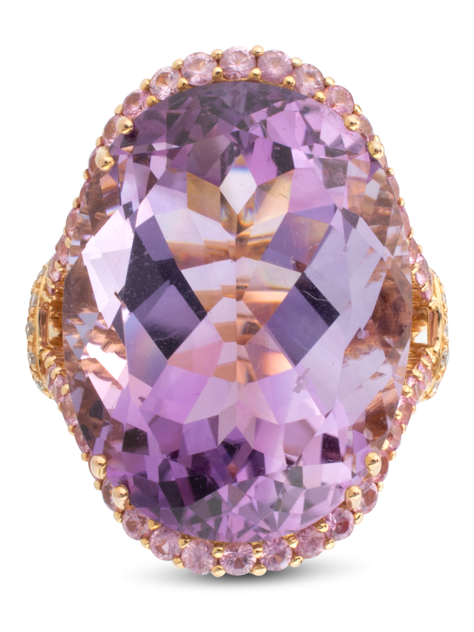 Amethyst Ring with Pink Sapphires-2
