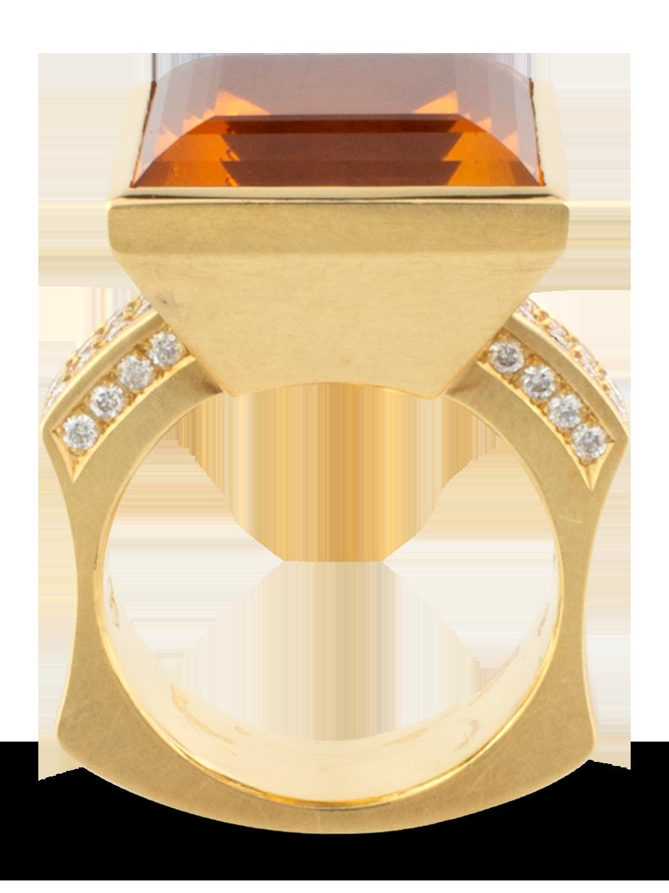 Citrine & Diamond Ring-2