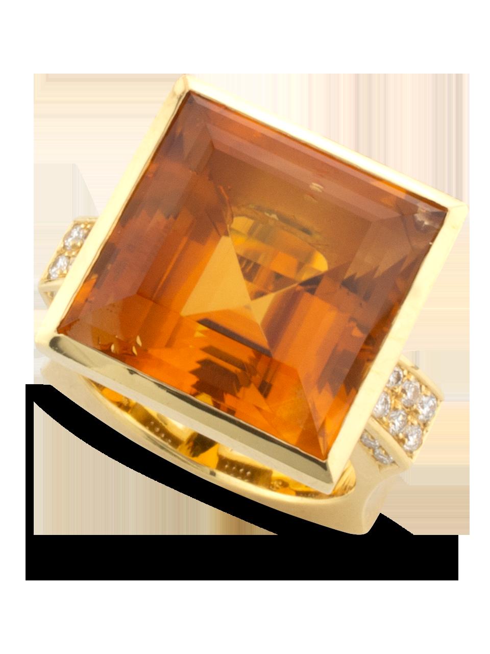 Citrine & Diamond Ring-3
