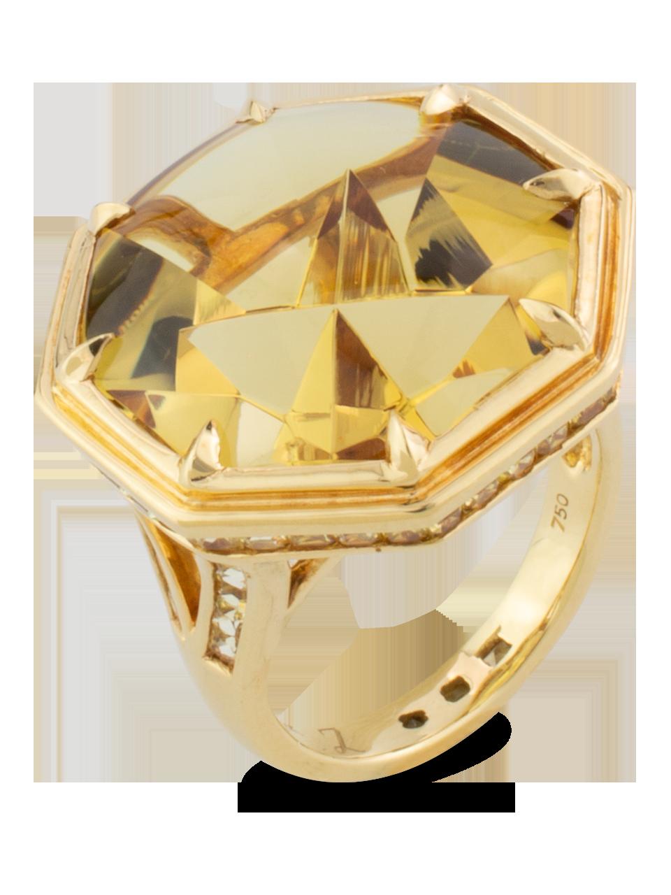 Golden Beryl & Yellow Sapphire Ring-2