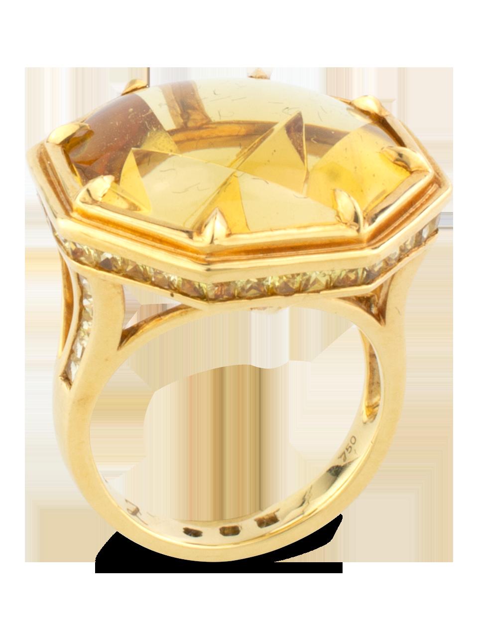 Golden Beryl & Yellow Sapphire Ring-3