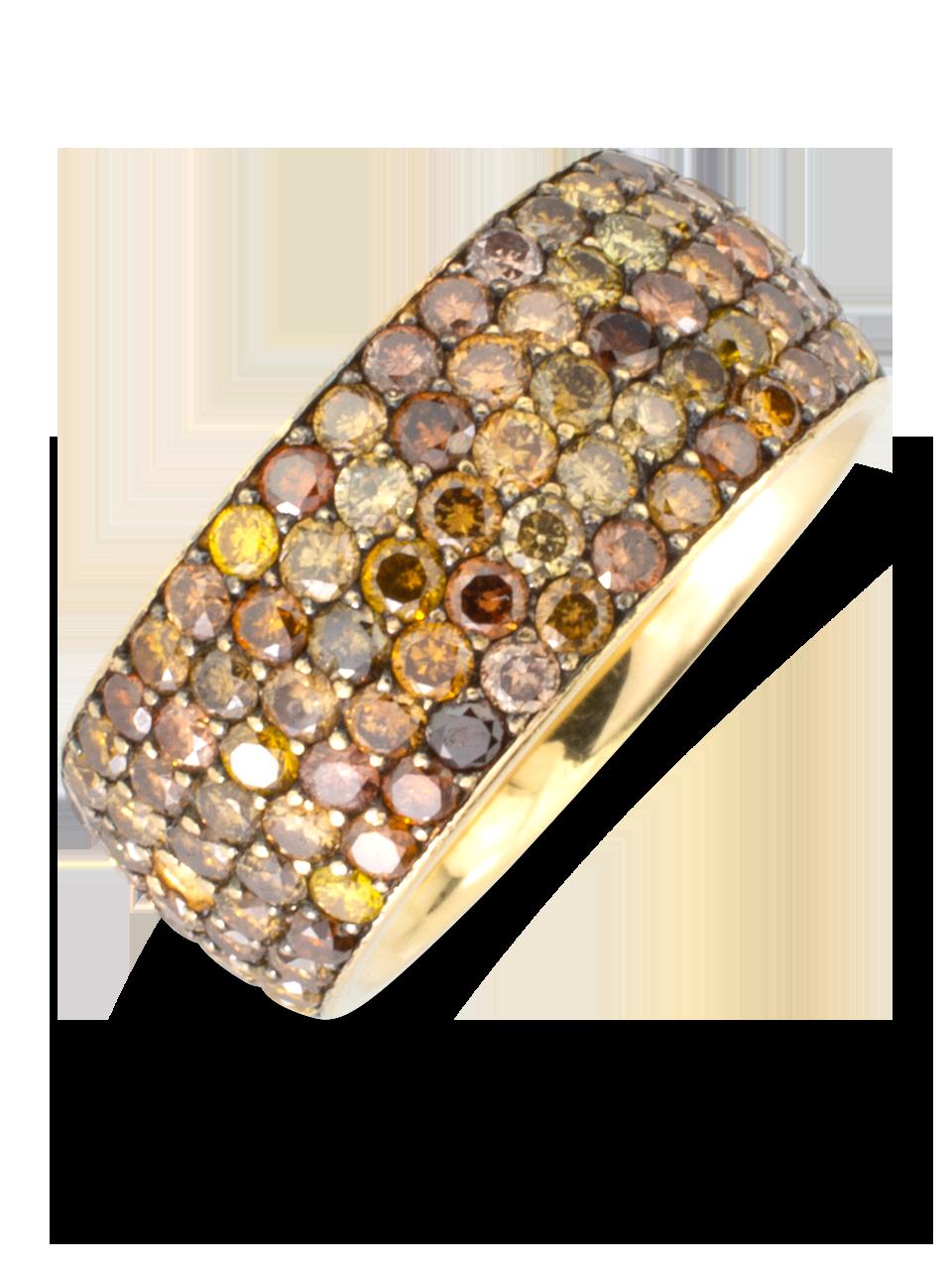 Fancy Diamond Wide Band Ring-2