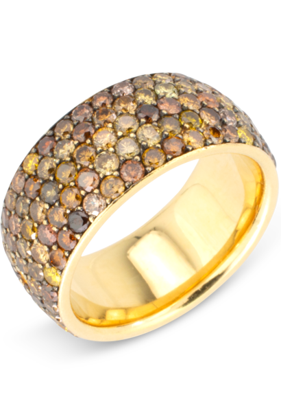 Fancy Diamond Wide Band Ring