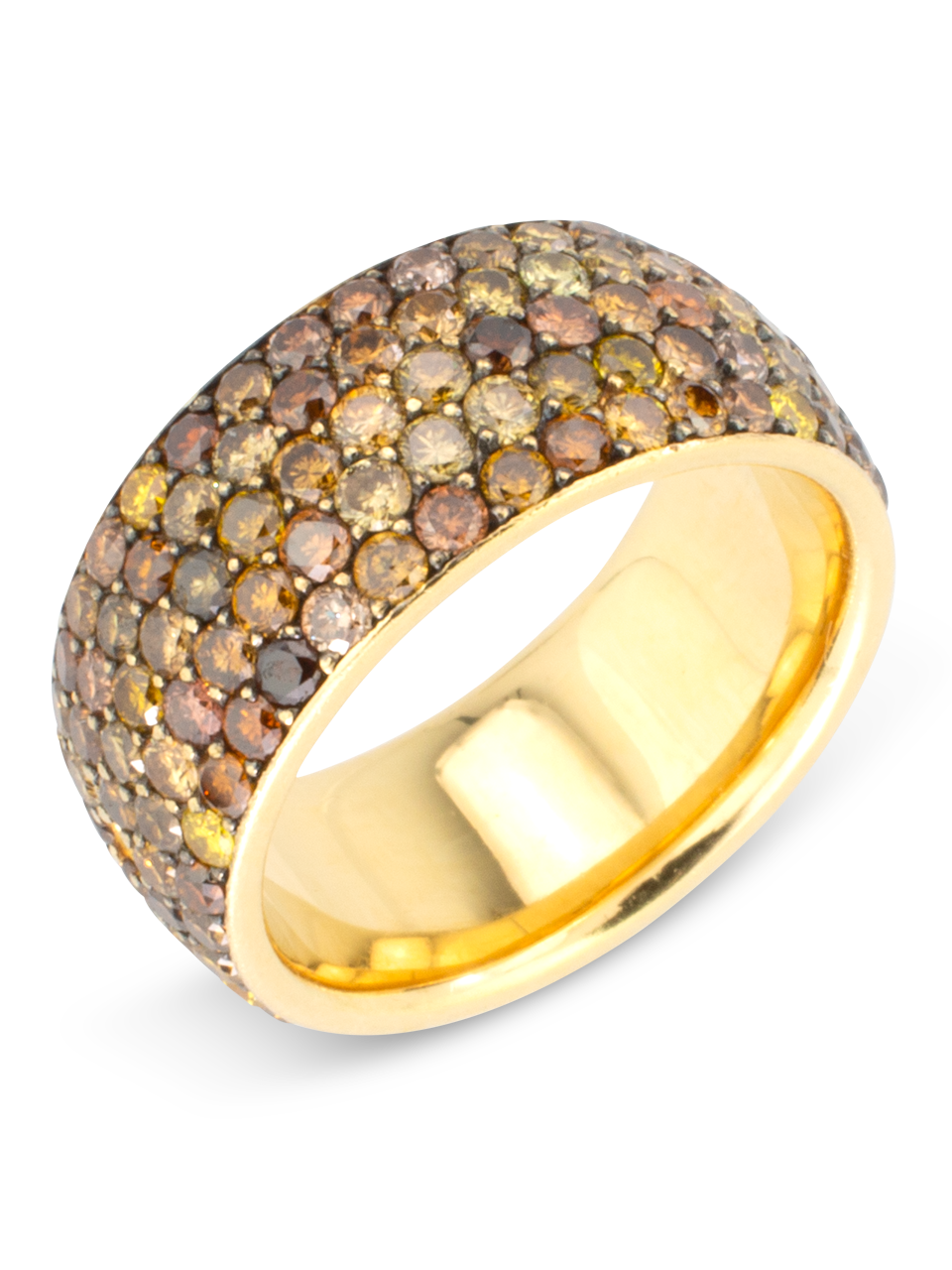 Fancy Diamond Wide Band Ring-1