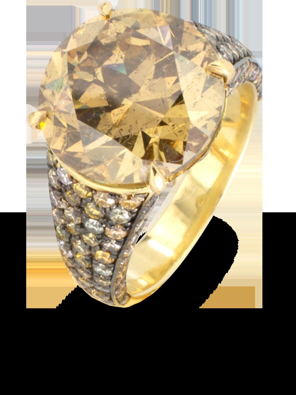 Maple Yellow Diamond Ring-2
