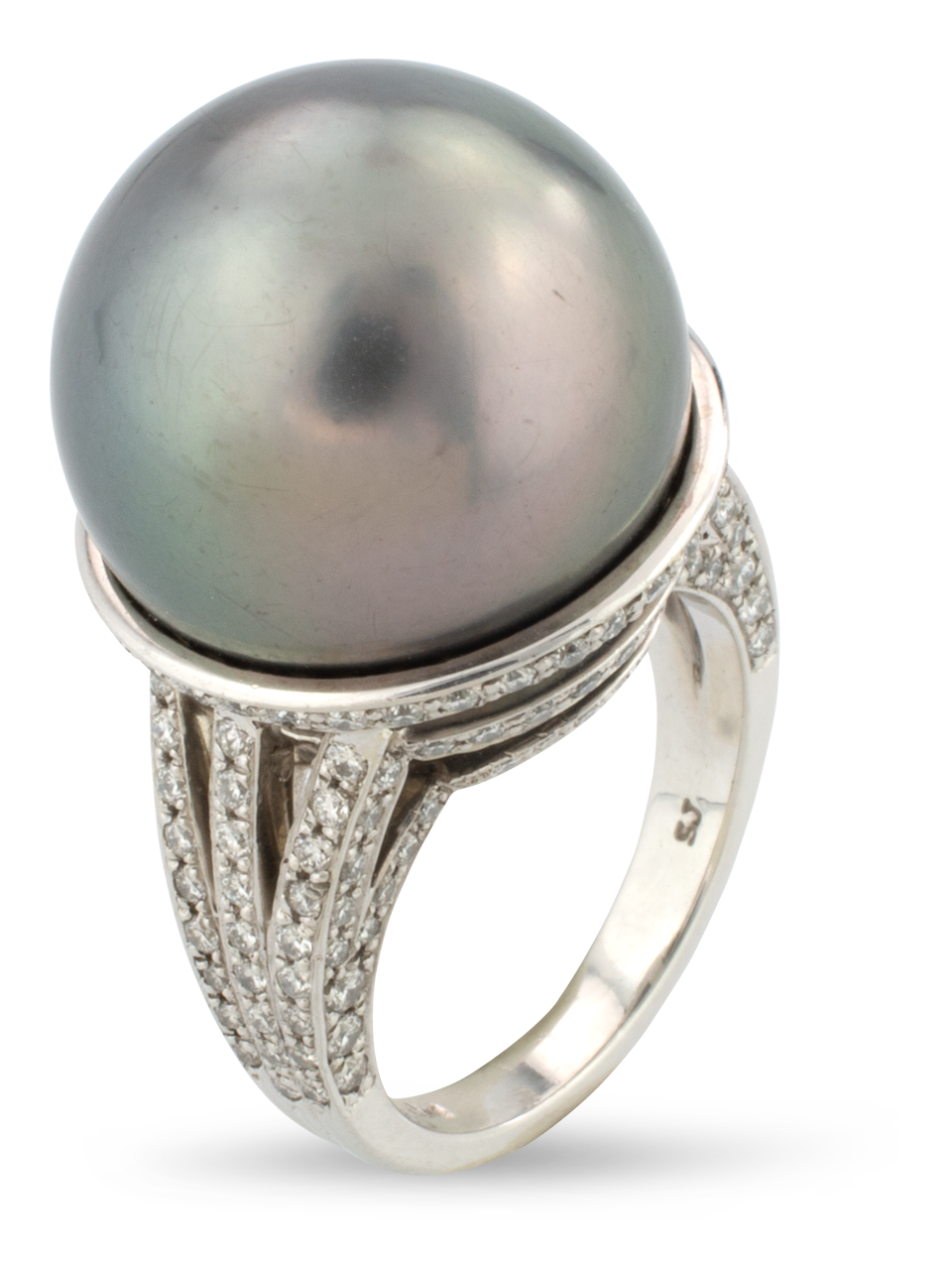 Tahitian Pearl & Diamond Ring-2