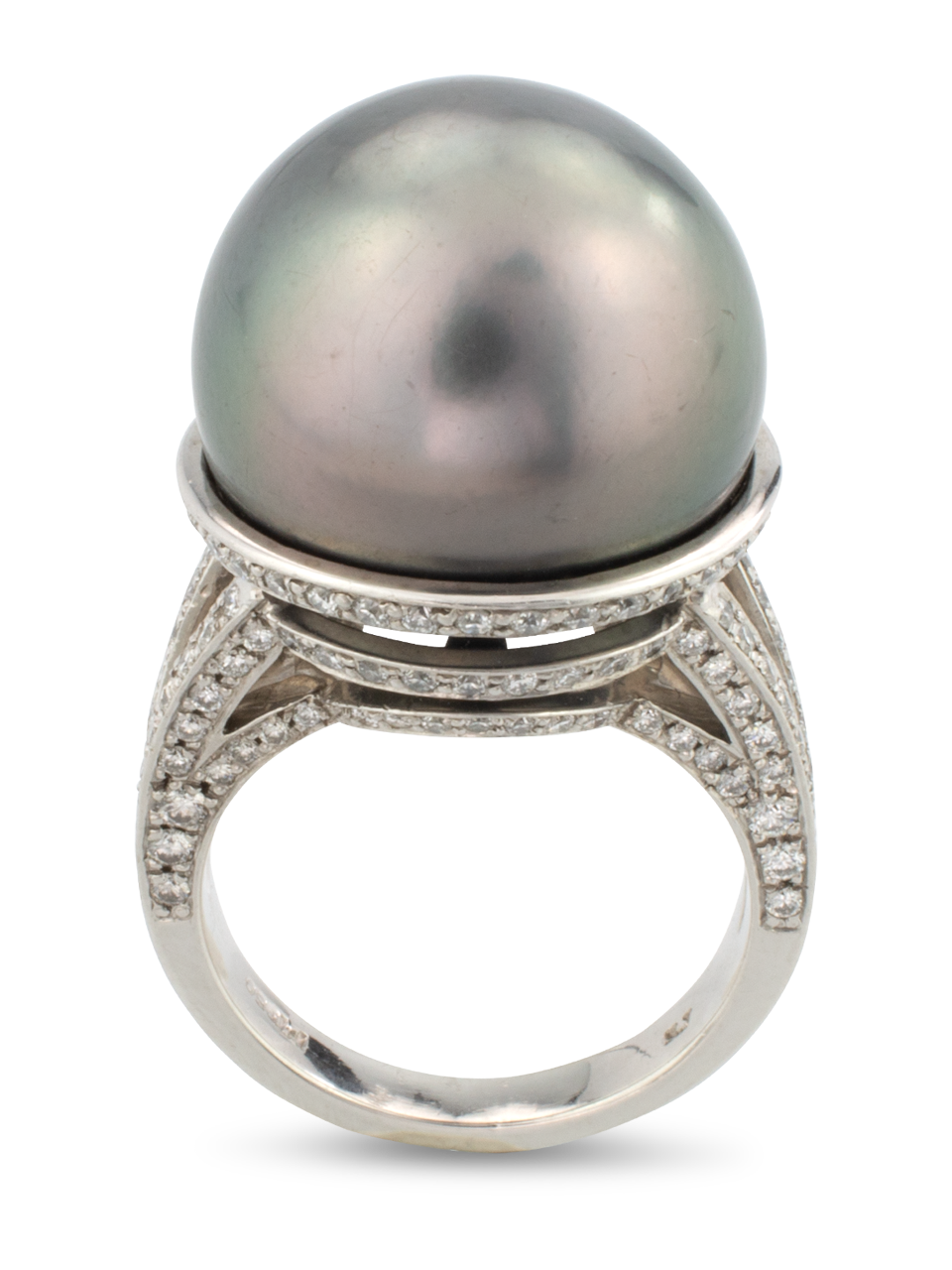 Tahitian Pearl & Diamond Ring-1