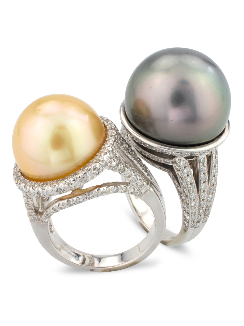 Tahitian Pearl & Diamond Ring-3