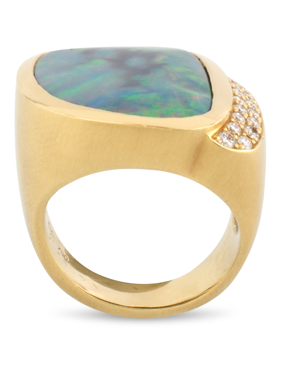 Black Opal & Diamond Ring-4