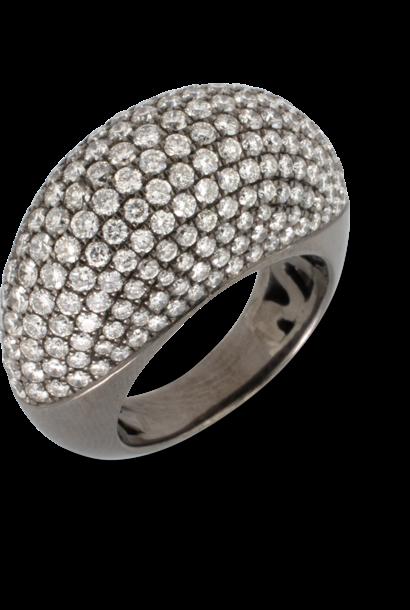 White Diamond Pave Dome Ring