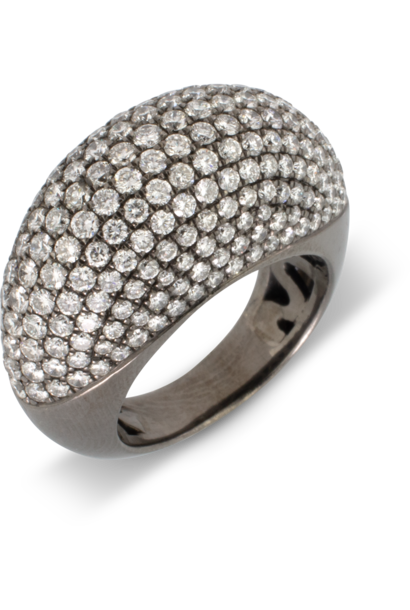White Diamond Pave Dome Ring