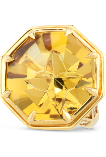 Golden Beryl & Yellow Sapphire Ring