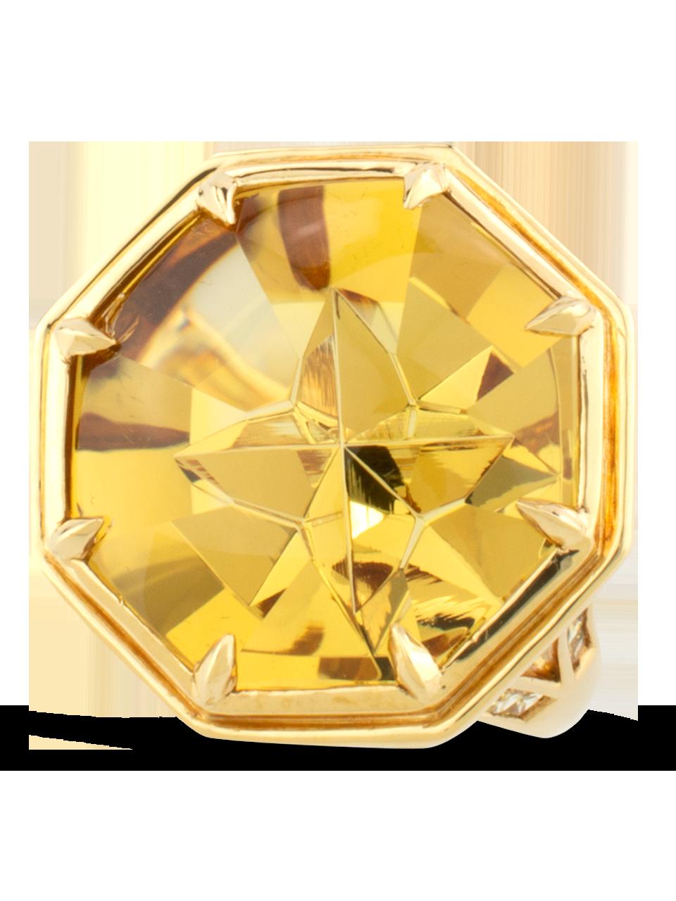 Golden Beryl & Yellow Sapphire Ring-1