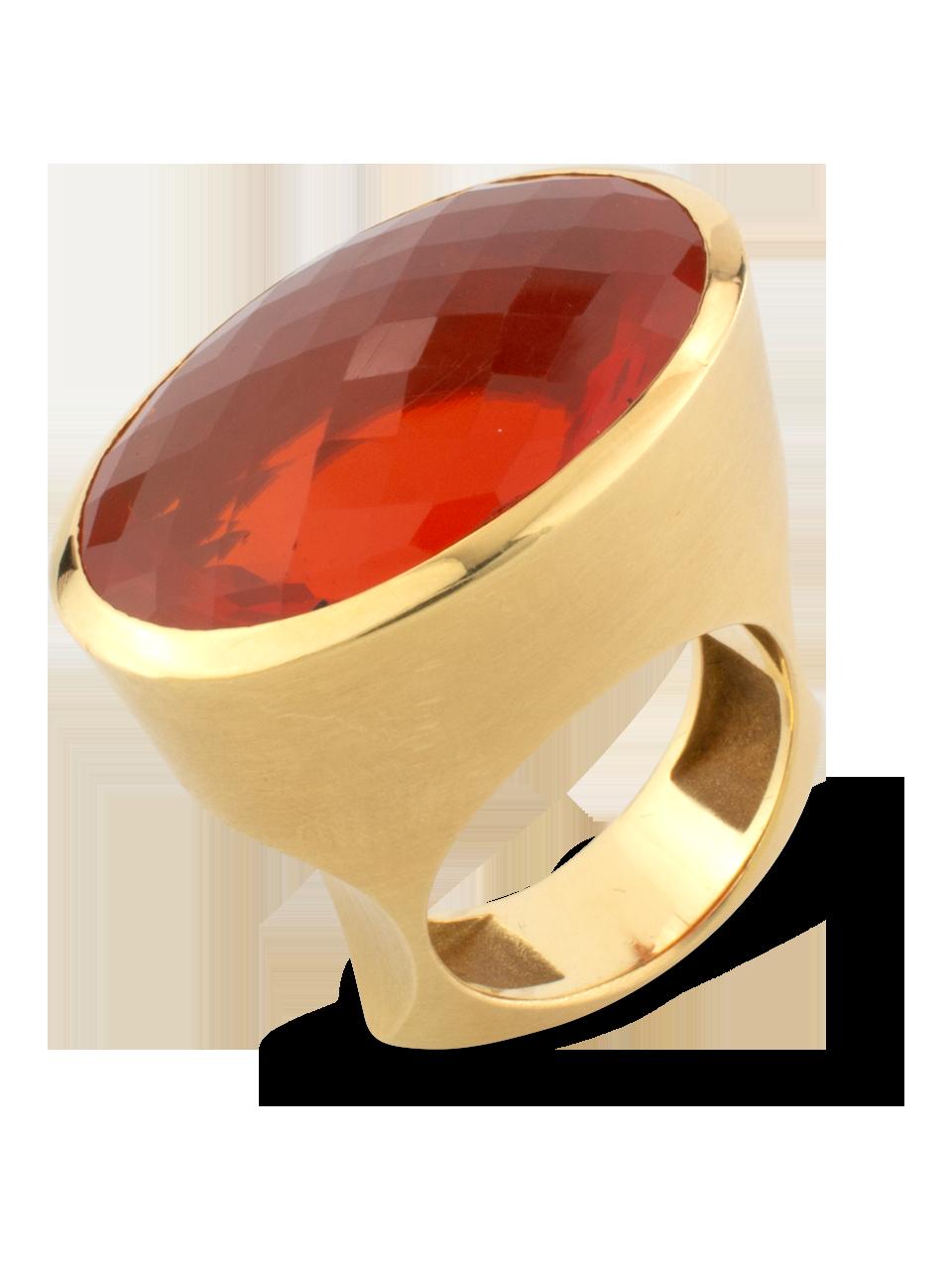 Fire Opal Ring-2