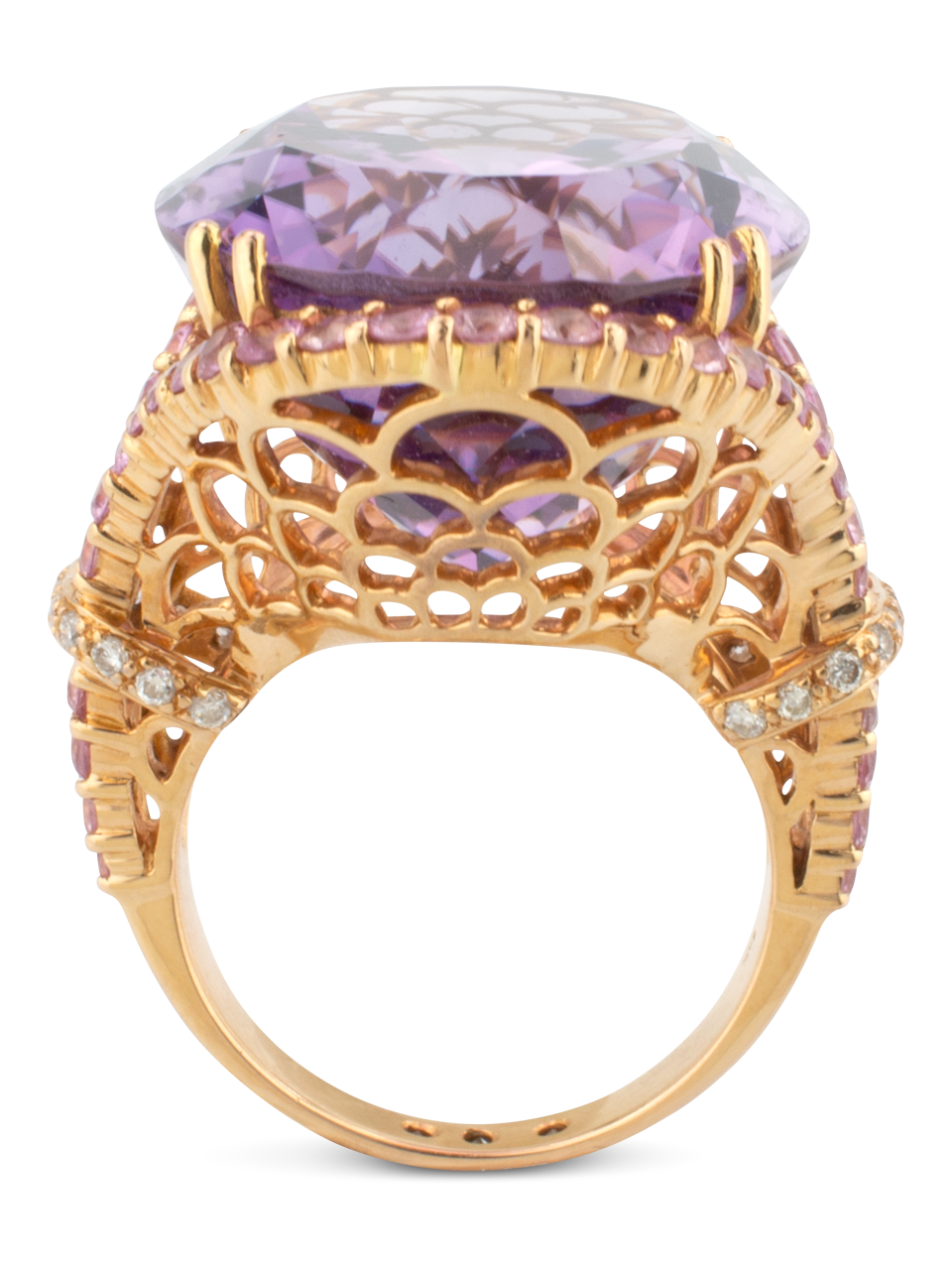 Amethyst Ring with Pink Sapphires-3