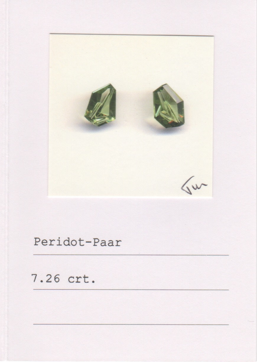 Peridot & Green Diamond Earrings-2
