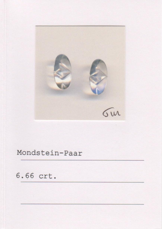Moonstone & Diamond Earrings-2