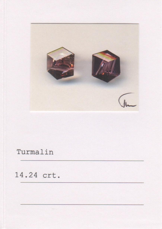 Rubellite, Aquamarine, Peridot & Citrine Earrings-3