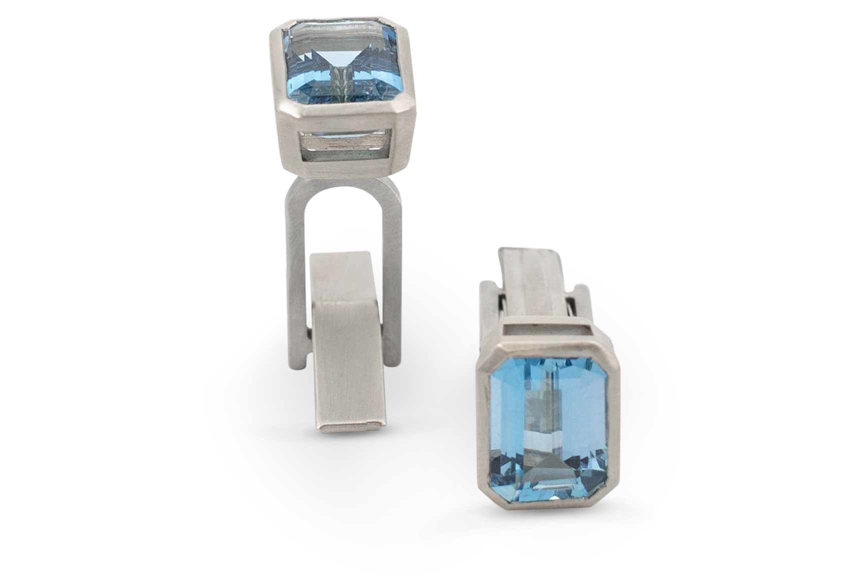 Aquamarine Cufflinks-1