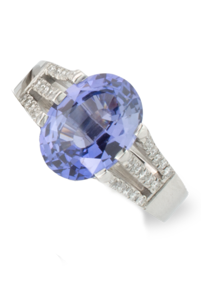 Violet Sapphire Ring