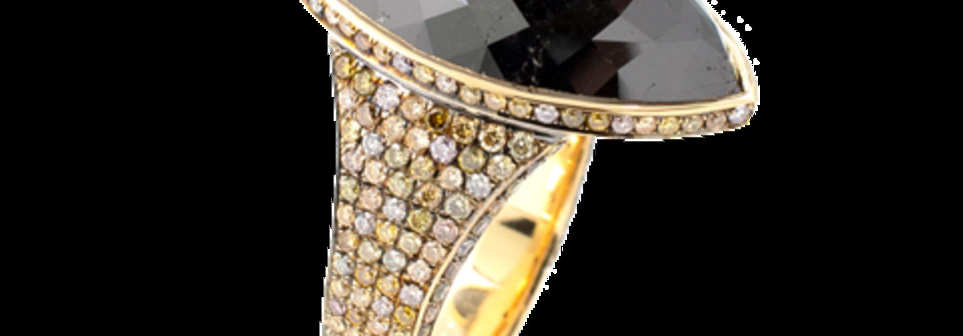 Marquise Black Diamond Ring