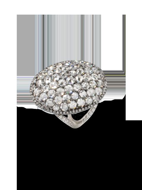 Oval-Shaped Hexagon-Cut Diamond Ring-1