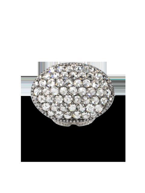 Oval-Shaped Hexagon-Cut Diamond Ring-2